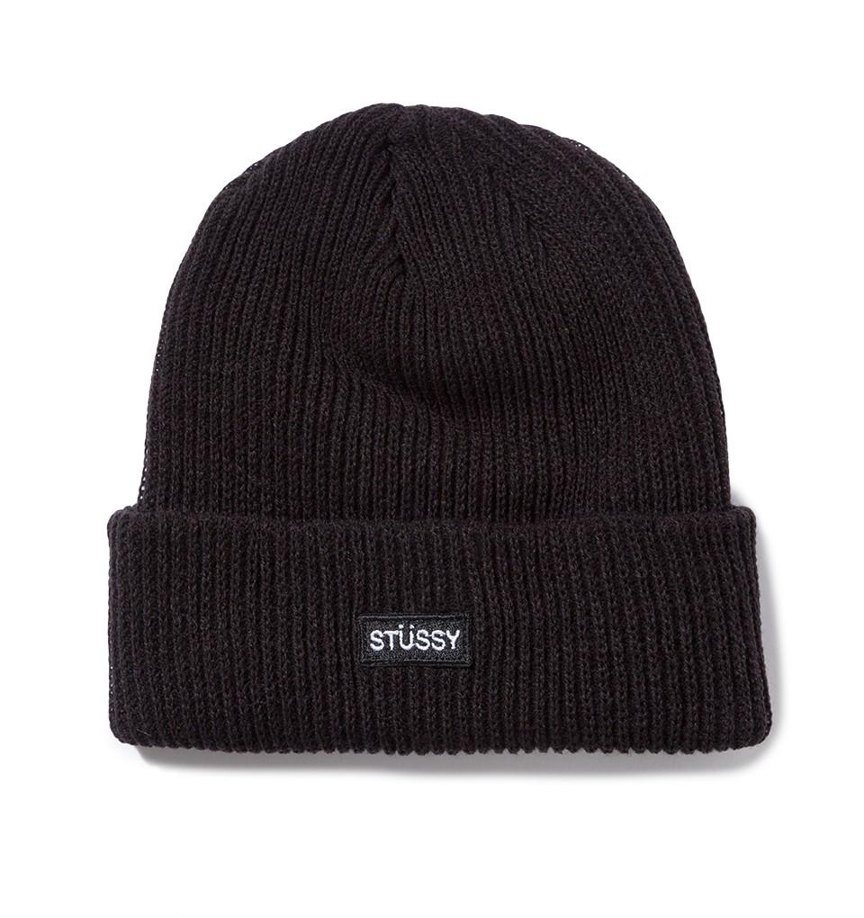 Small Patch Watch Beanie Black