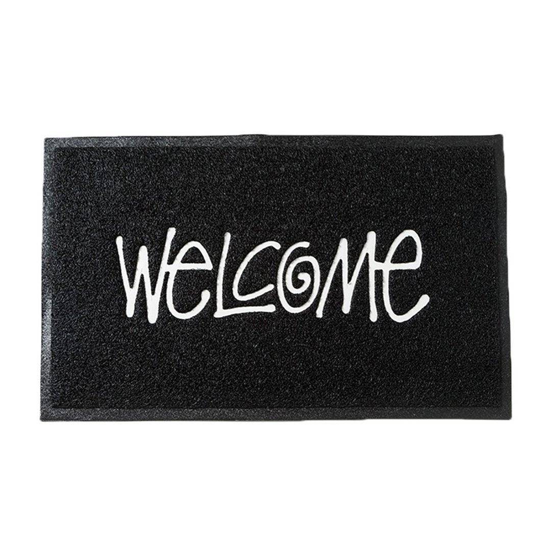 PVC Welcome Mat Black