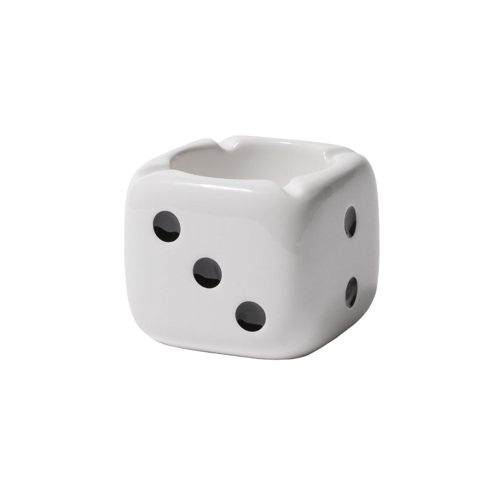 Ceramic Dice Ashtray 138743 White