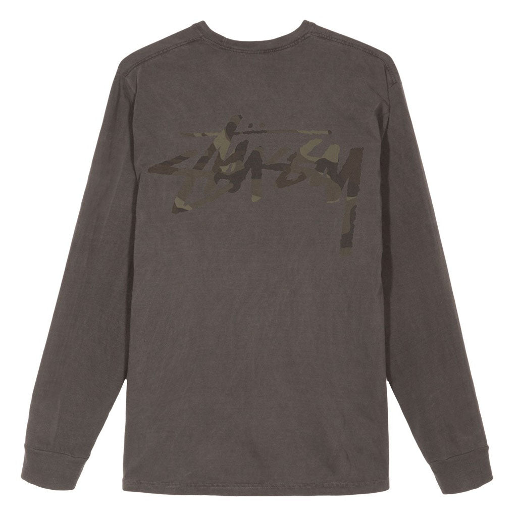 Camo Stock Pig Dyed Pocket LS Tee 1954366 Black