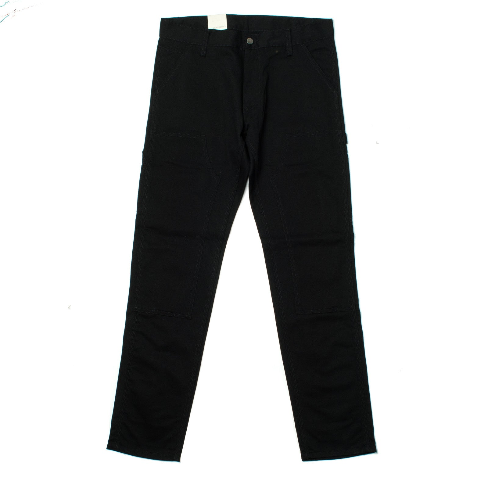 Lincoln Double Knee Pant Black Rigid