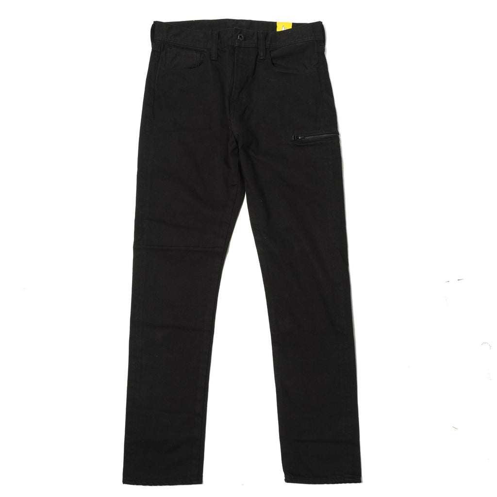 FR2 Side Zip Straight Denim Black