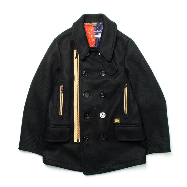 Melton Zip Coat 2100 Black