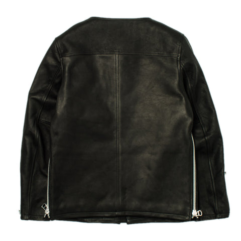 Collarless Leather Jacket Bal-1521