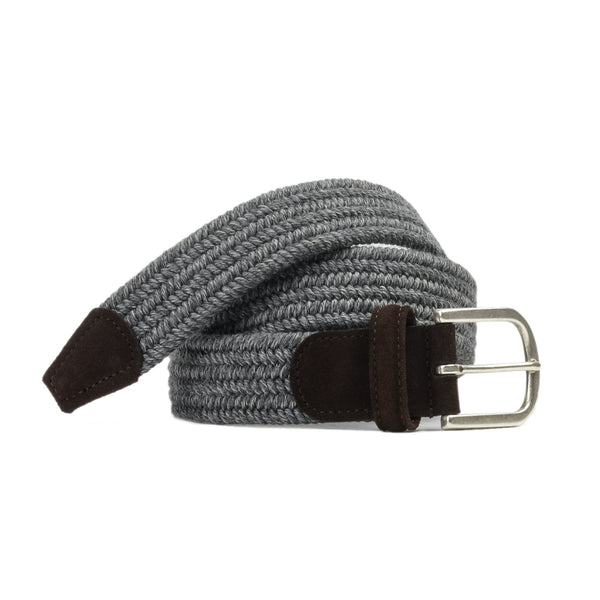 Anderson's Wool Elasticated Belt Grey