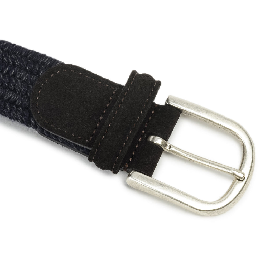 Anderson's Wool Elasticated Belt Navy