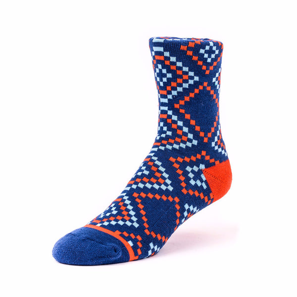 Diamond Socks Blue