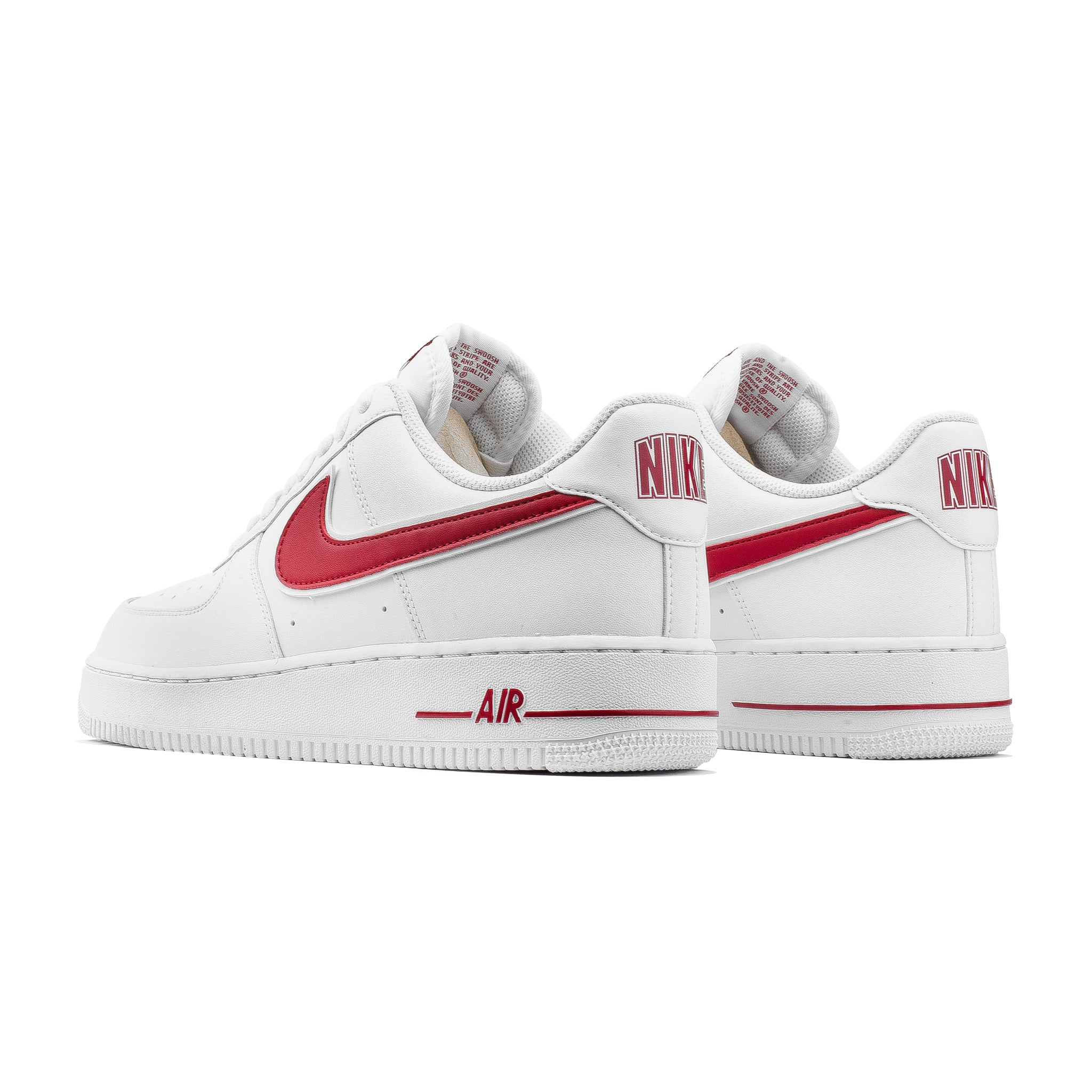 size 40 40ebe 8514f Air Force 1  07 3 AO2423-102 White Red