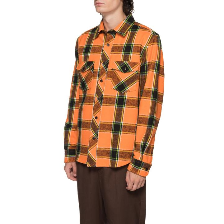 Ace Plaid Shirt 1110061 Orange