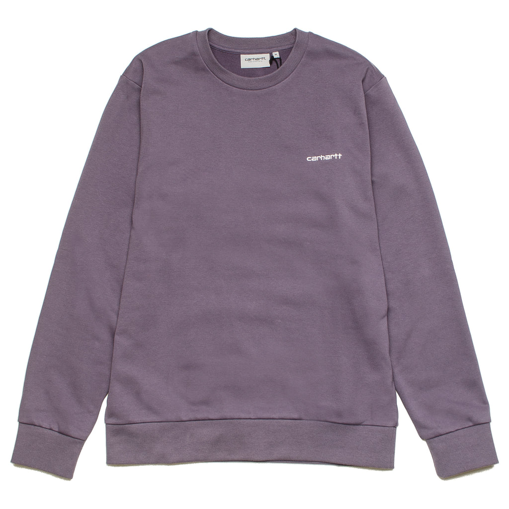 Script Embroidery Sweat I024678 Purple