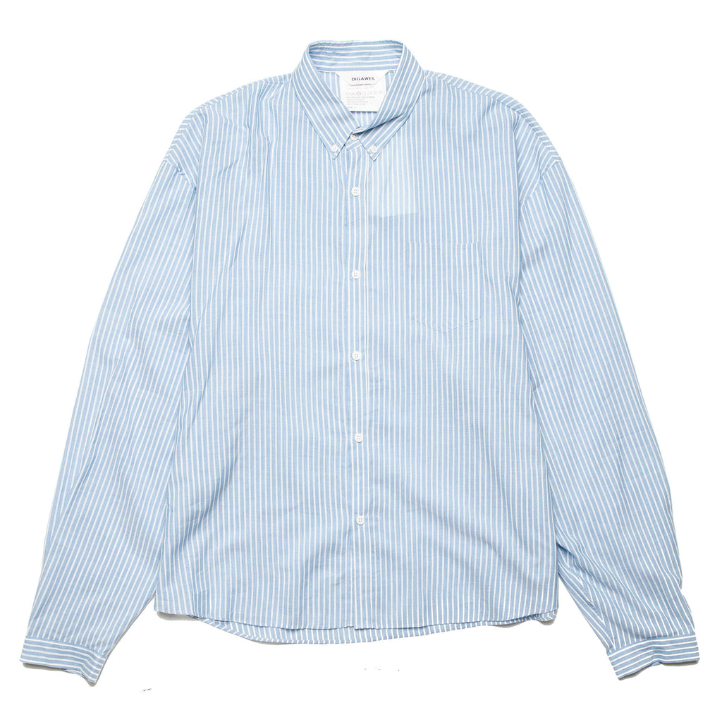 Button Down Shirt DWSOA051 Sax Stripe
