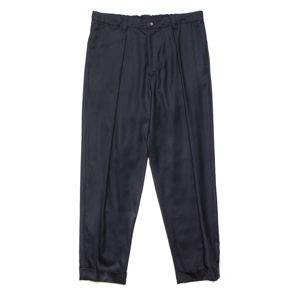 Wool Twill Relax Pants J6054 Navy