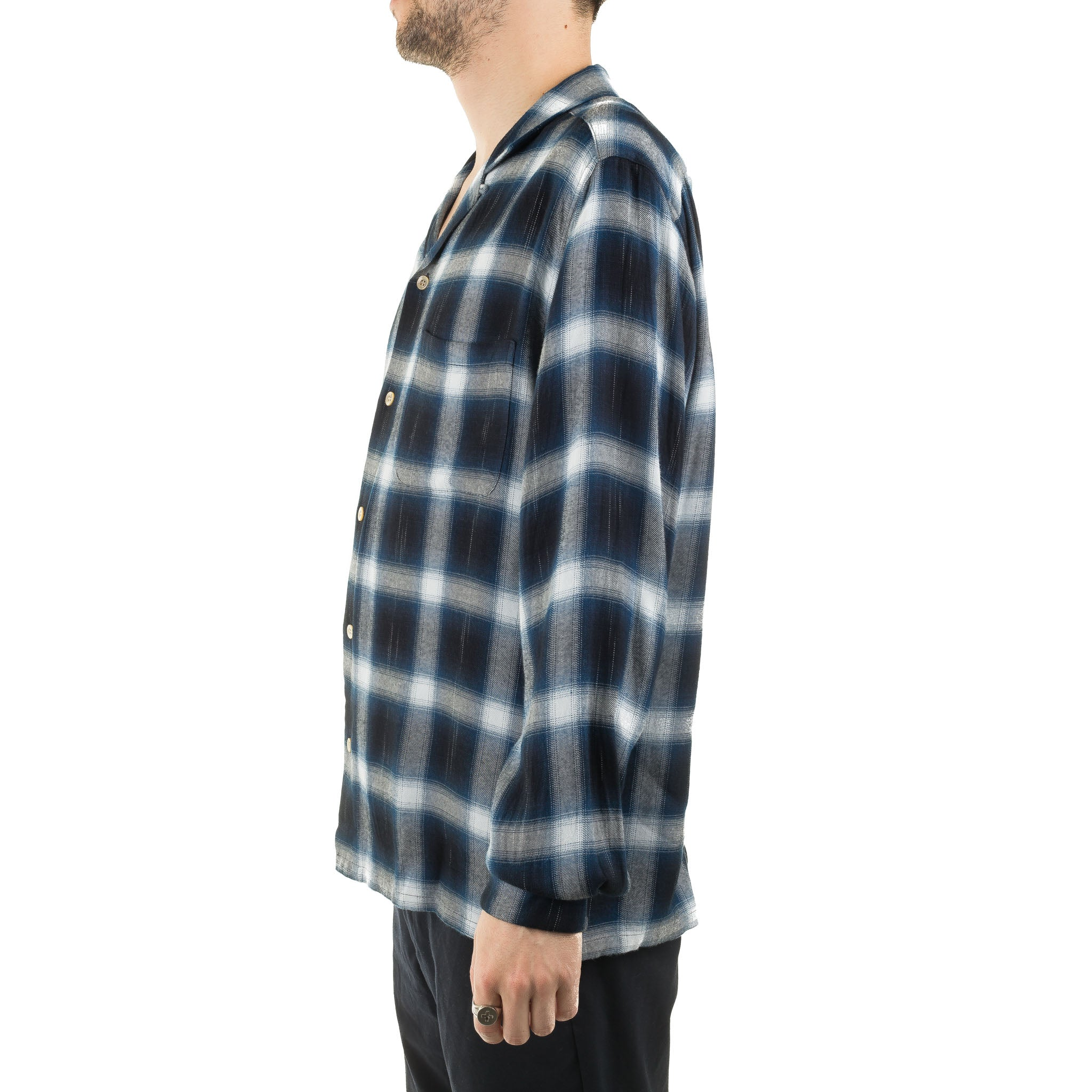 Splashed Pattern L/S Shirt J6100 Navy