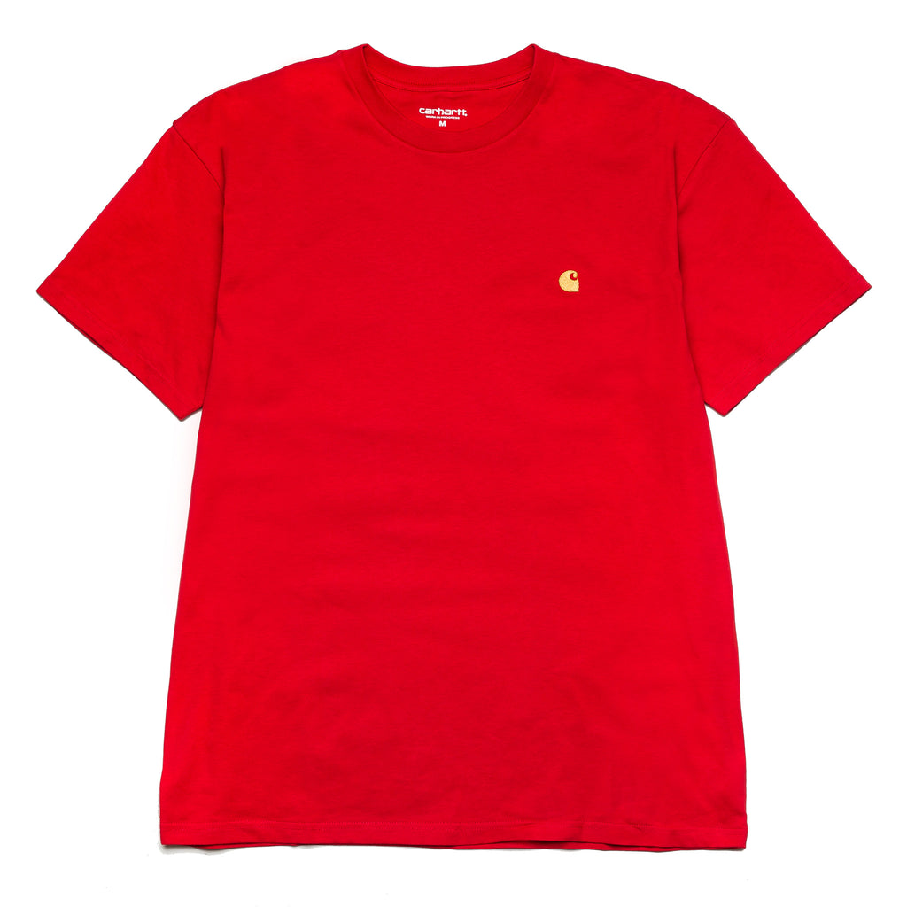 S/S Chase Tee Etna Red/Gold I026391
