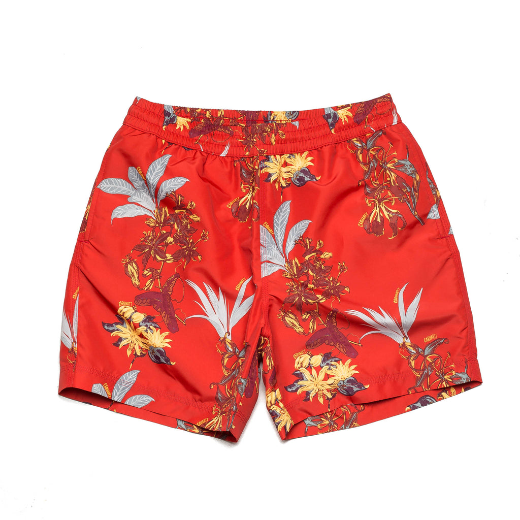 Drift Swim Trunk Hawaii Floral I015812 Red