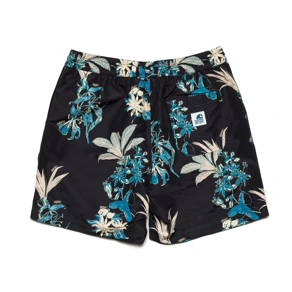 Drift Swim Trunk Hawaii Floral I015812 Black