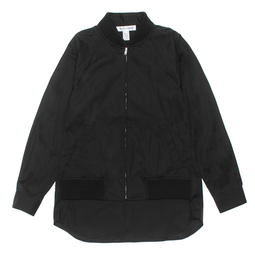 Slim Fit Jacket Shirt W27046 Black