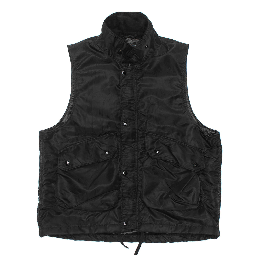 Field Vest Flight Satin Nylon 19FC004 Black