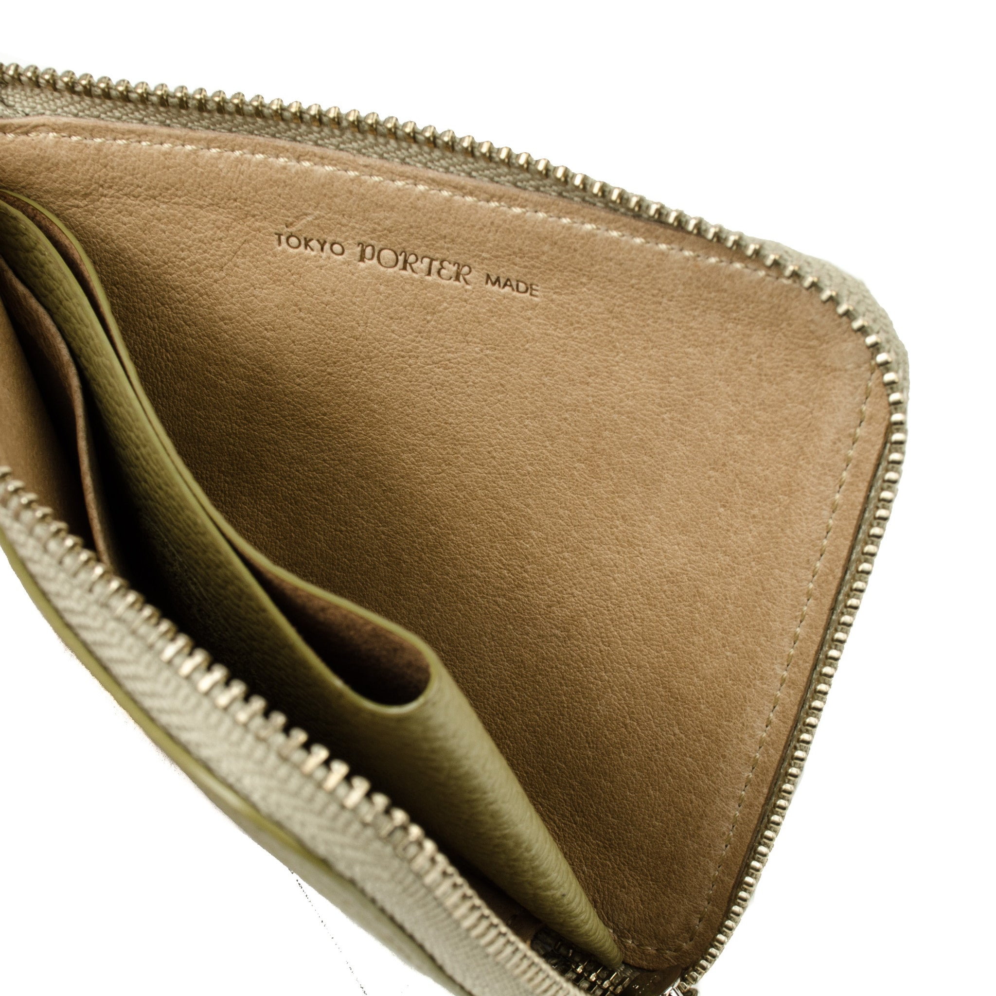 bal/Porter® Leather Wallet Sand