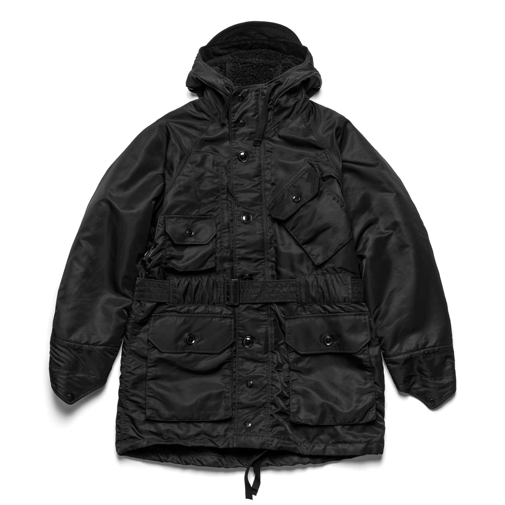 EG Field Parka 20F1D032 Black Flight Satin Nylon