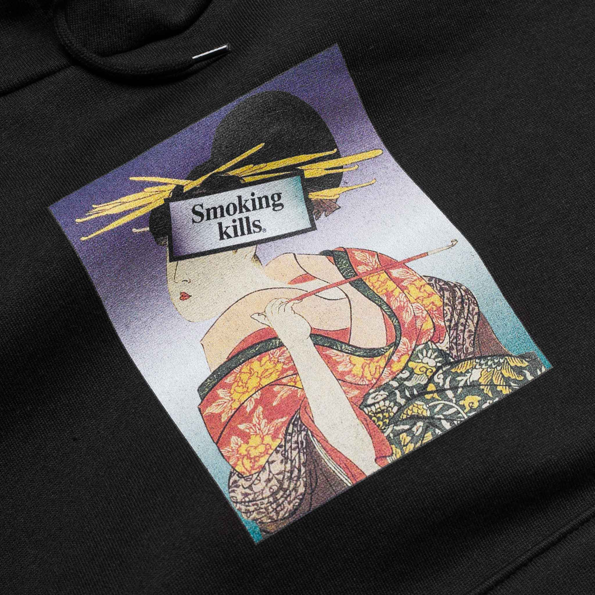 Ukiyoe Smoking Kills Hoodie Black