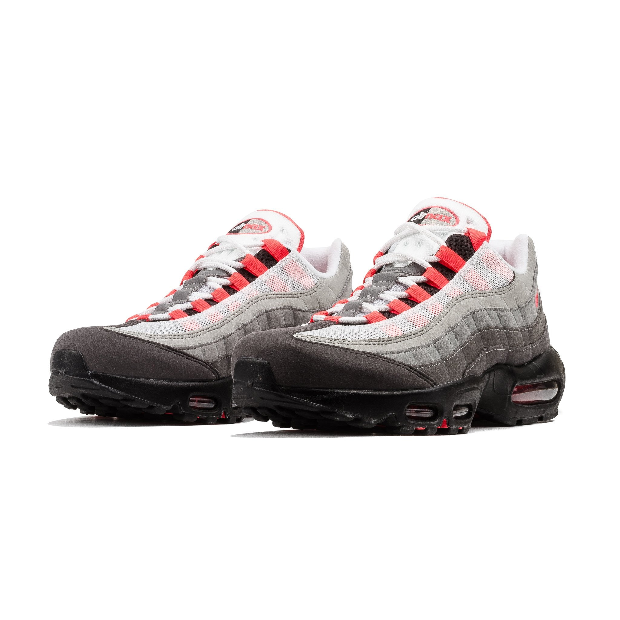 nike air max 95 og trainer white / solar red / granite