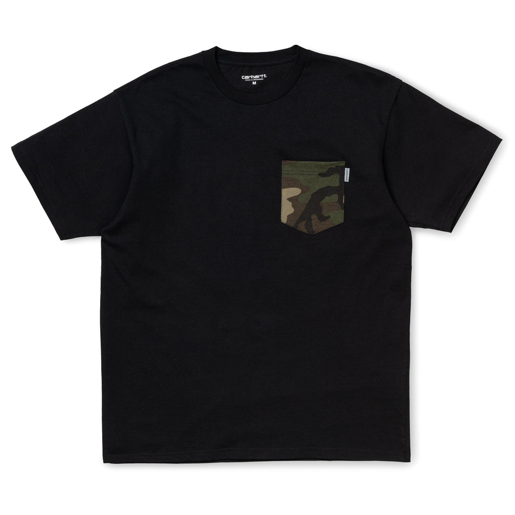 SS Lester Pocket Tee Camo Black I017127