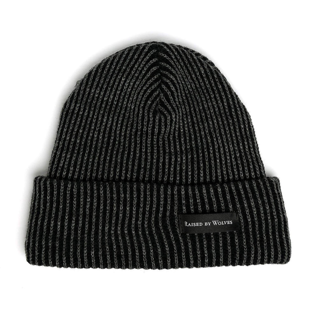 Vertical Stripe Watch Cap Charcoal