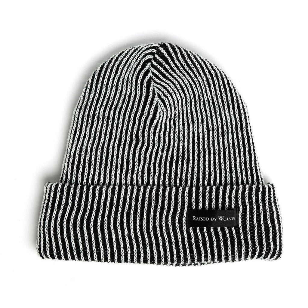 Vertical Stripe Watch Cap Grey