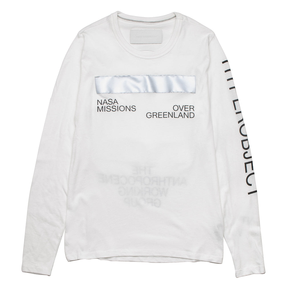 Arc Printed LS Tee PLS10002 White