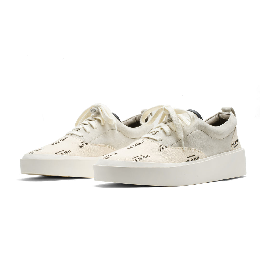 101 Lace Up Sneaker Print FOG Cream