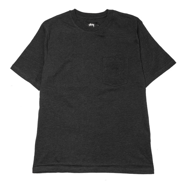 Heather O'Dyed SS Pocket Tee Black Heather