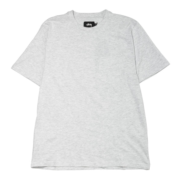Heather O'Dyed SS Pocket Tee White Heather