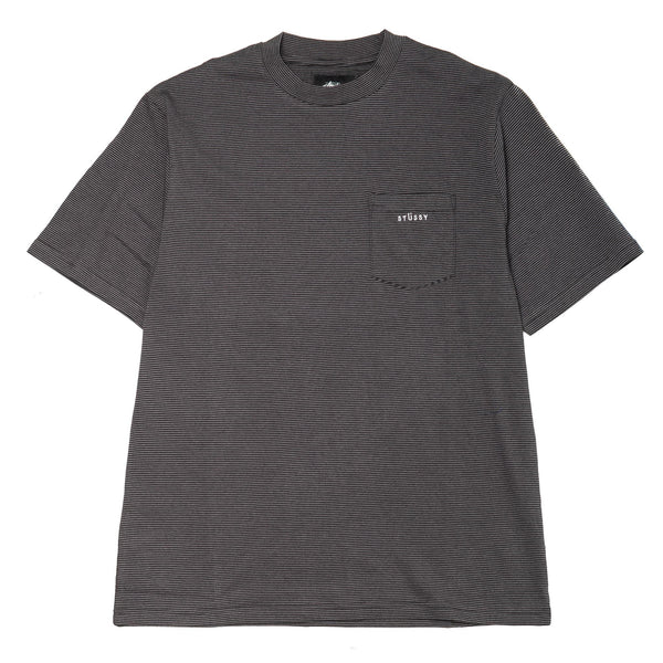 Mini Stripe SS Crew Grey