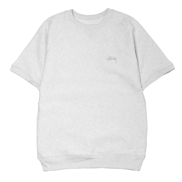 Stock Raglan SS Crew Wht Heather