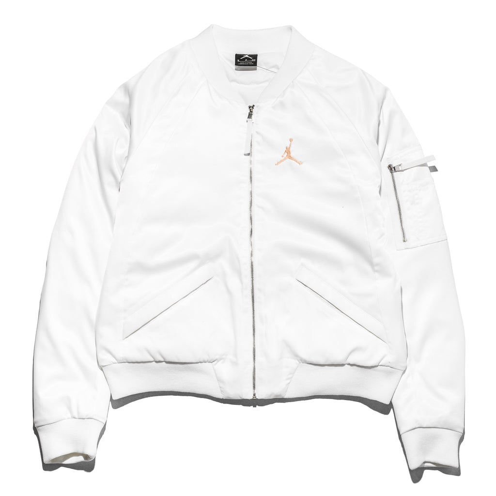 WMN Jordan Wings MA-1 Jacket AO4382-100 White/Sunset Tint
