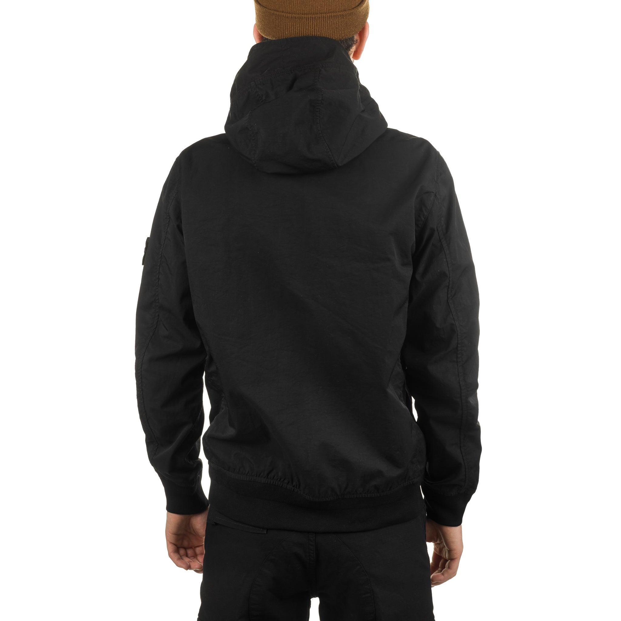 Nylon Twill-TC Zip-Up Jacket 721540426 Black