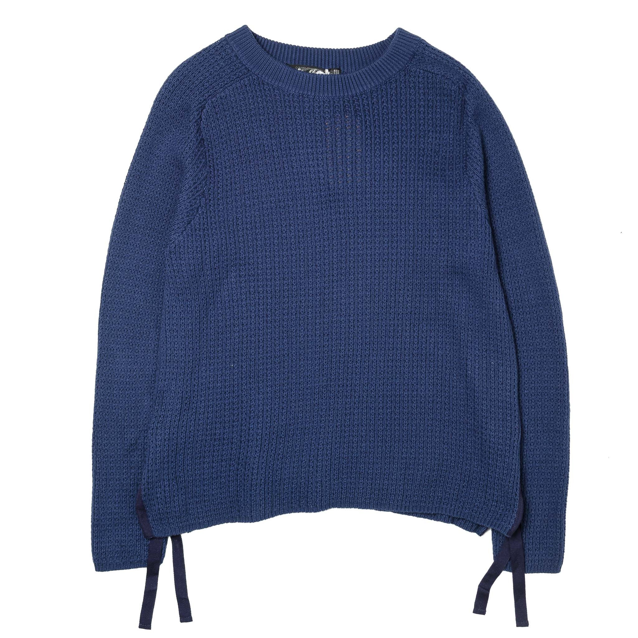 LOW GAUGE SIDE SPLIT SWEATER BAL-1553 Navy