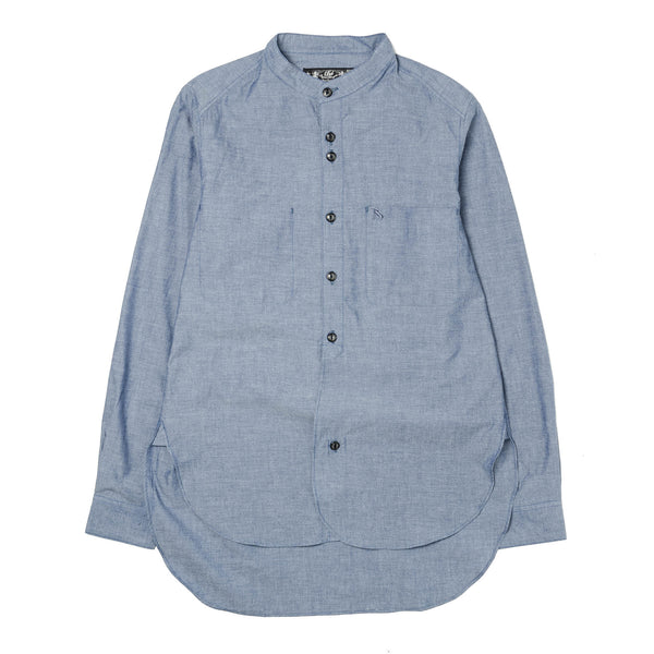 BAND COLLAR LONG SHIRT BAL-1545 Indigo