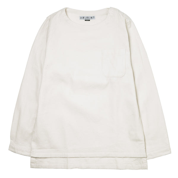Boatneck Pullover Shirt BAL-1609 Off White