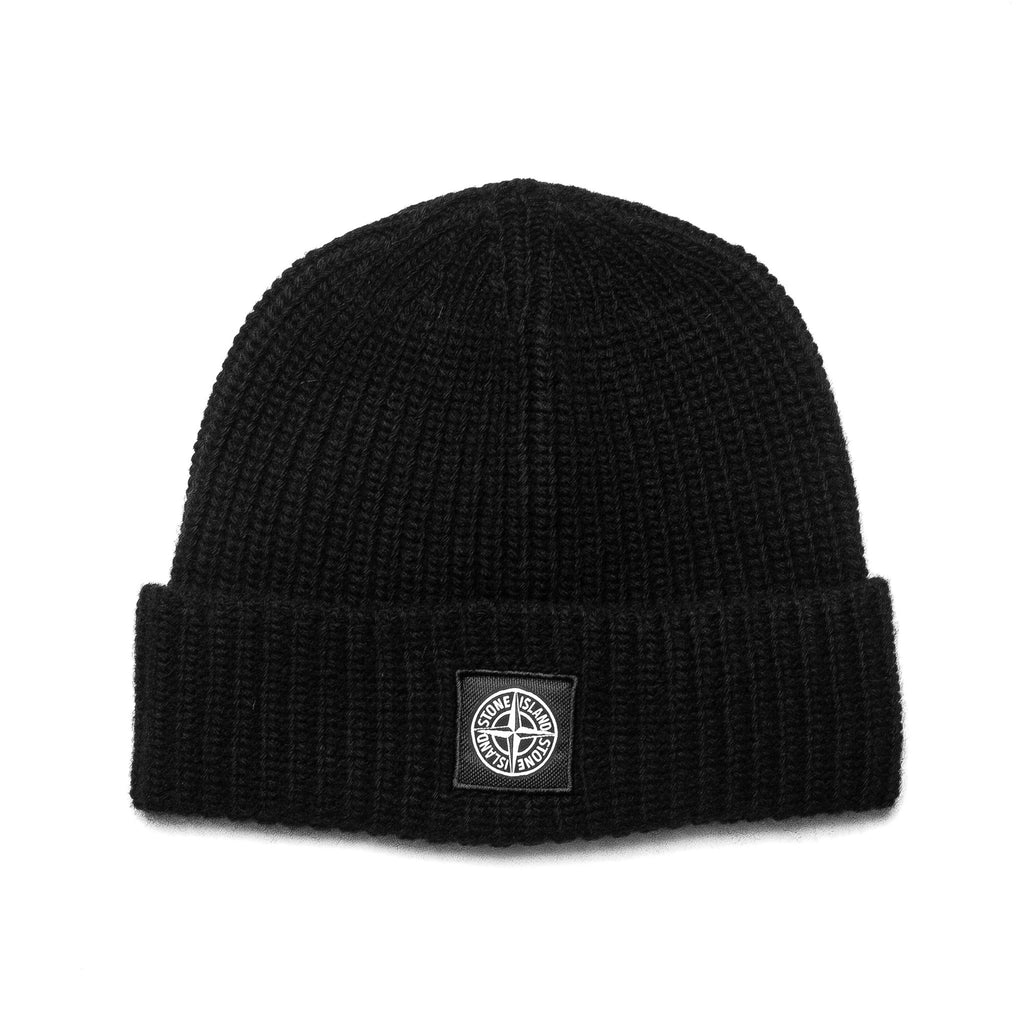 Patch Logo Knit Beanie 6915N10B5 Black
