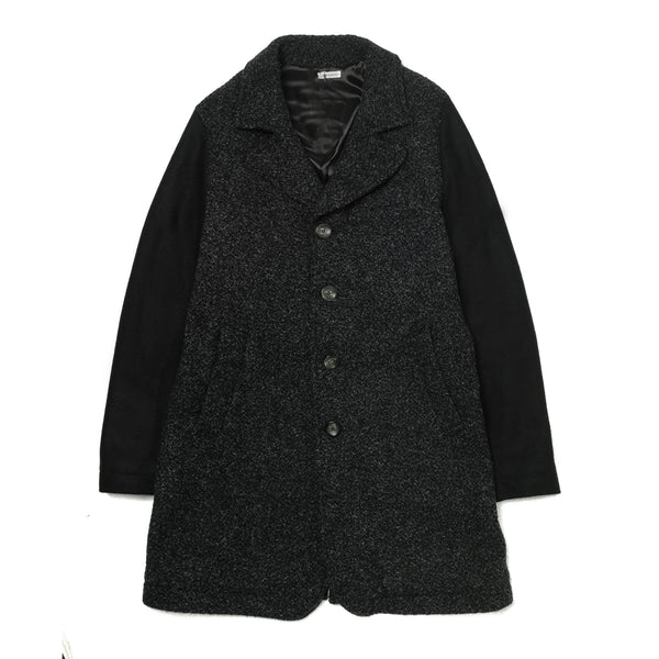 Tweed Wool Single Pea Coat