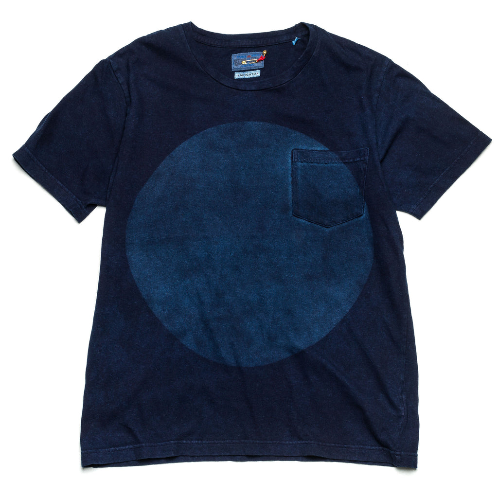 Hand Dyed Big Circle Indigo Tee 35449 Indigo
