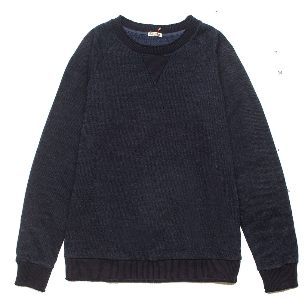 Big Slub Crewneck Sweater Navy 700056508
