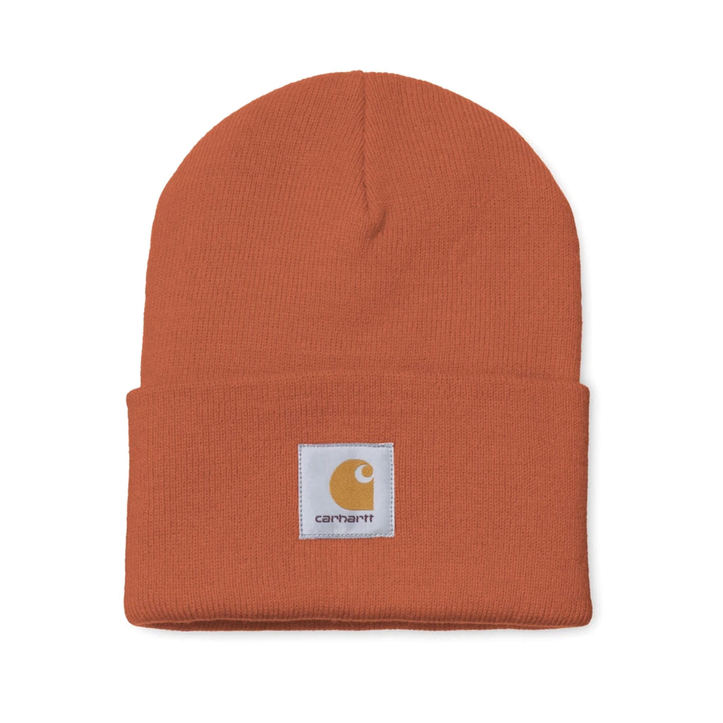 Acrylic Watch Hat Brick Orange