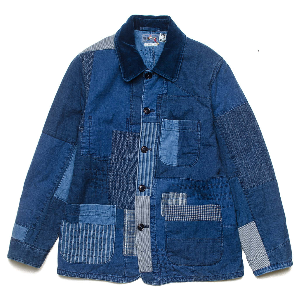 Patchwork Padded Coverall 700070615
