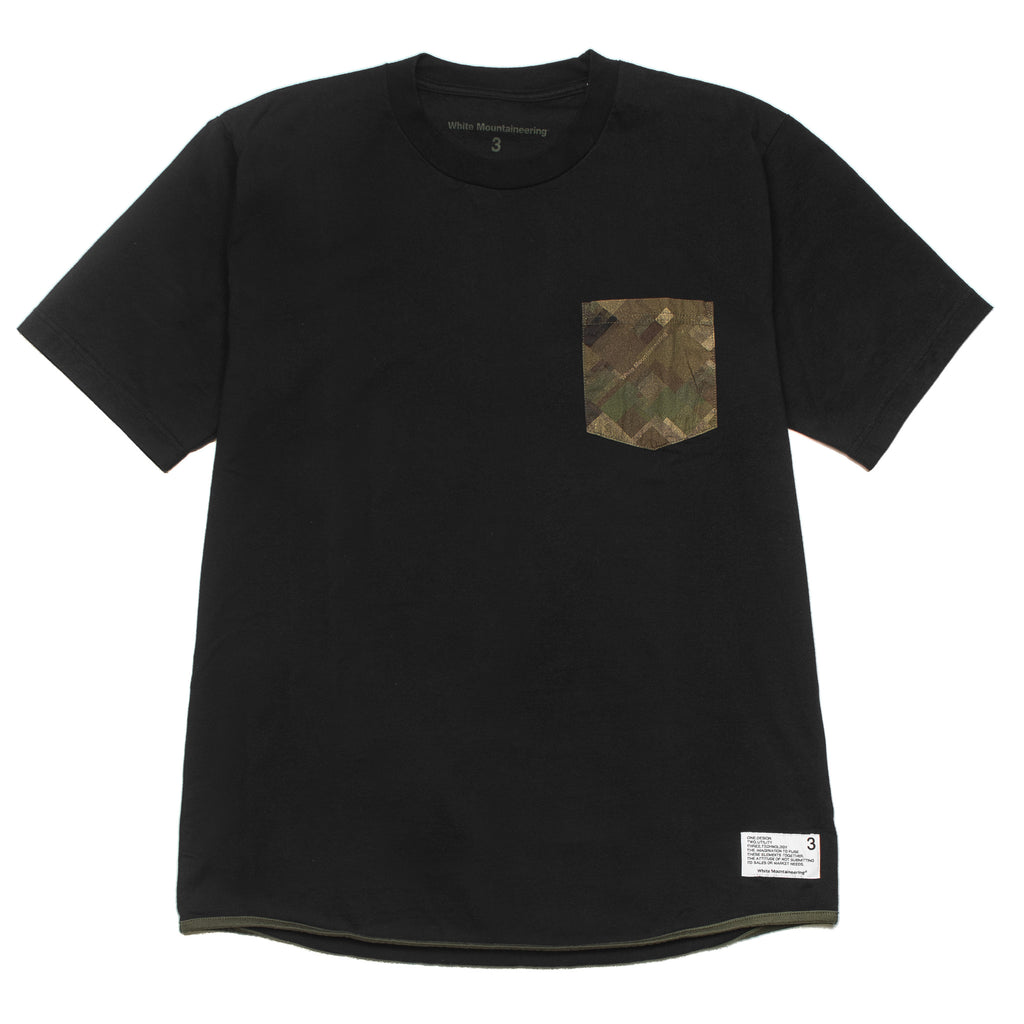 Mosaic Camo Tee WM197518 Black