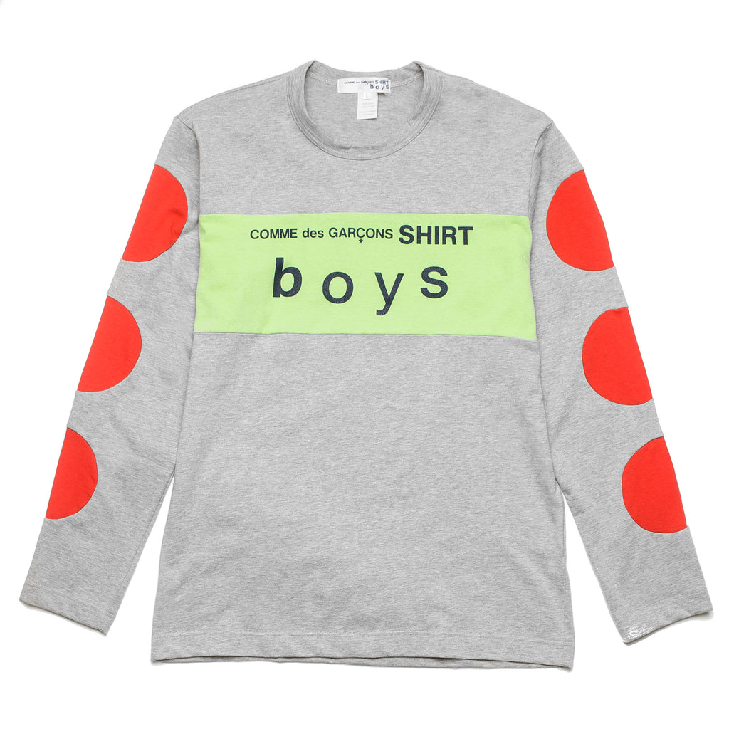 CDG Boys LS Tee S27933 Grey