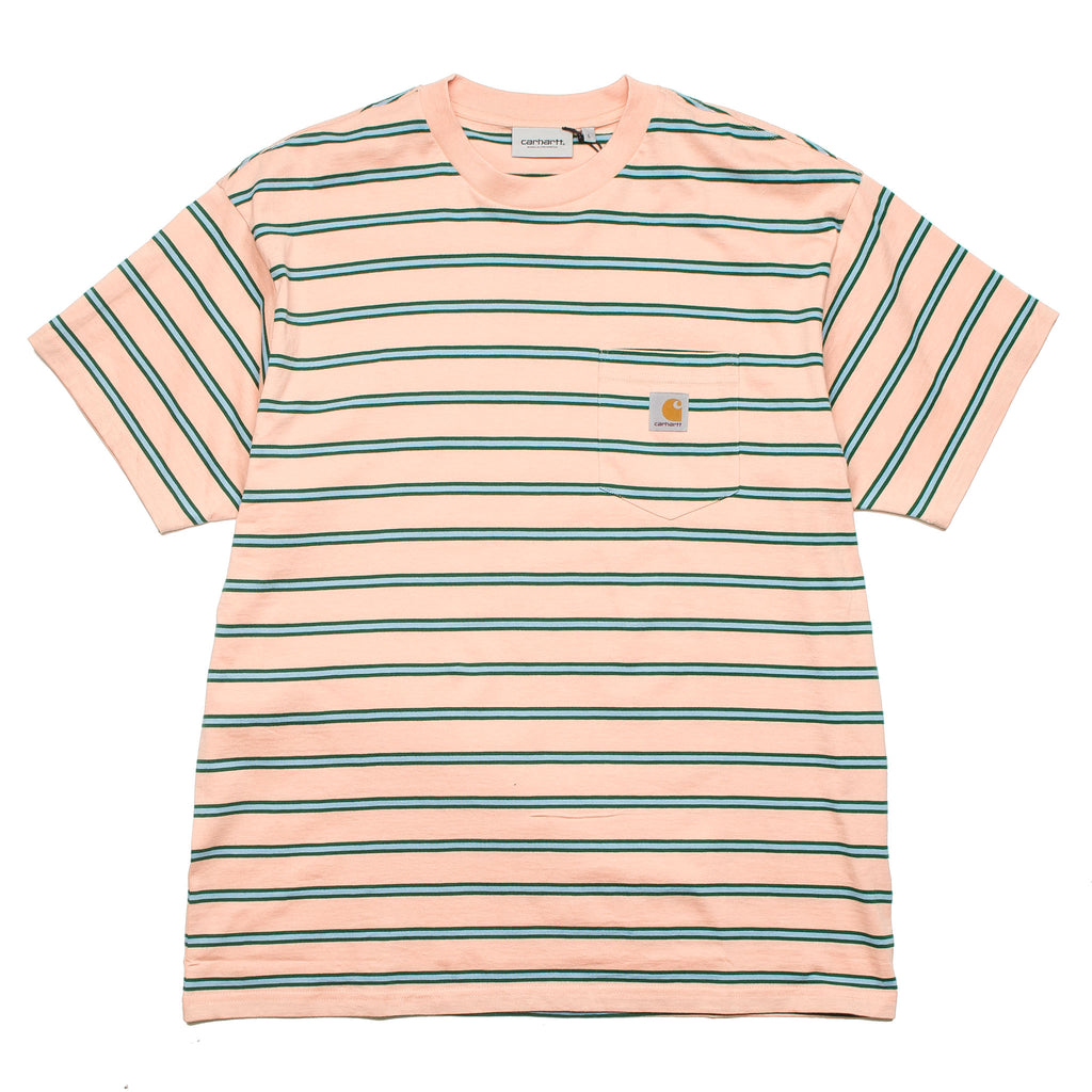 S/S Houston Pocket Tee I026370 Peach Stripe