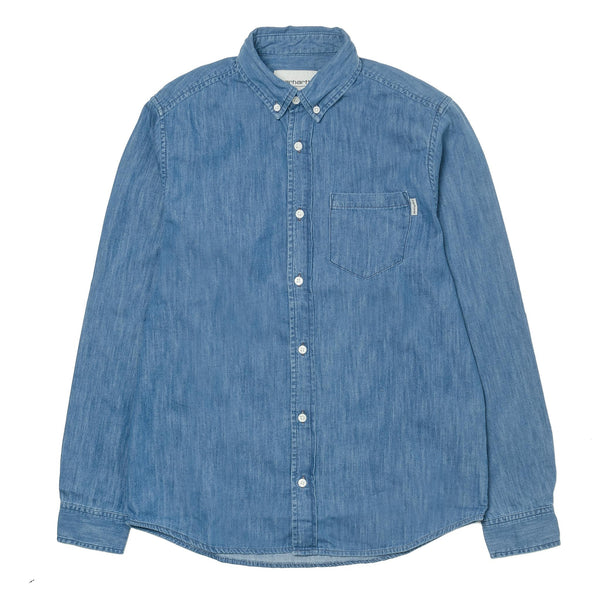 L/S Civil Shirt Blue Stone Wash